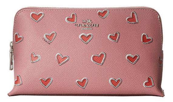 COACH Box Program Heart Print Crossgrain Cosmetic 19 On Sale @ 6PM.com