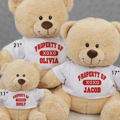 Personalized Property Of XOXO Teddy Bear-11