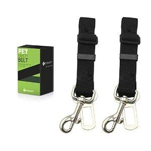 Etekcity 2-Pack Pet Car Seat Belt, Nylon Material, 16-26in Adjustable