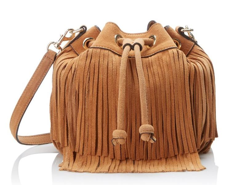 Rebecca Minkoff Fringe Mini Fiona Bucket Cross-Body Bag