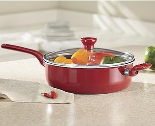 T-fal Excite Nonstick Thermo-Spot 4.5-Quart Covered Jumbo Cooker
