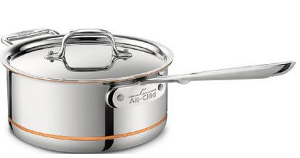 All-Clad 6203 SS Copper Core 5-Ply Bonded Dishwasher Safe Saucepan with Lid / Cookware, 3-Quart