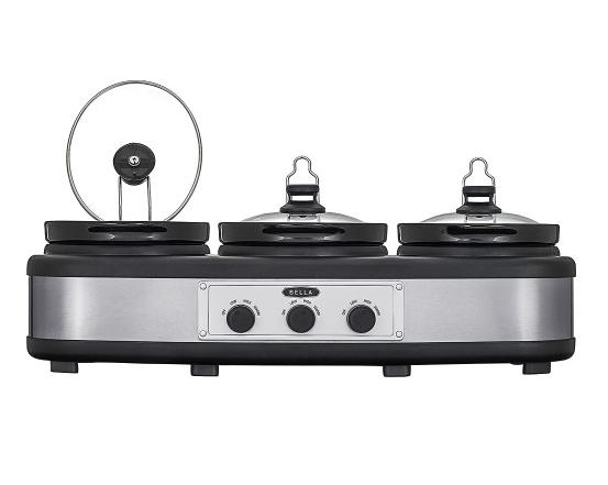 Bella 3 x 2.5-Quart Triple Slow Cooker Black BLA14484