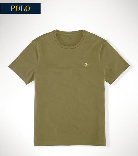 CUSTOM-FIT JERSEY T-SHIRT @ Ralph Lauren