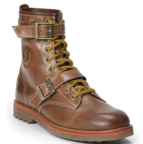 MAURICE OILED LEATHER BOOT @ Ralph Lauren