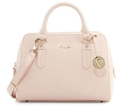 Furla  Elena Small Leather Satchel Bag, Magnolia @ LastCall by Neiman Marcus