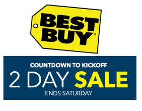 Live Now! Best Buy Countdown to Kickoff 2-Day Sale