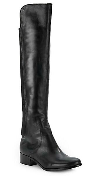 Charles By Charles David Jettison Stretch-Panel Leather Riding Boots @ Saks Off 5th