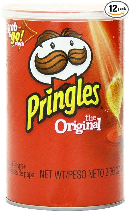 $5.61 Pringles Original Grab and Go Pack, 2.36 Ounce (Pack of 12)