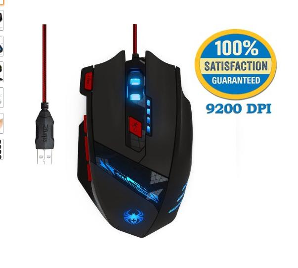 $14.99 Kingtop Wired Ergonomic LED Gaming Mouse @ Amazon.com