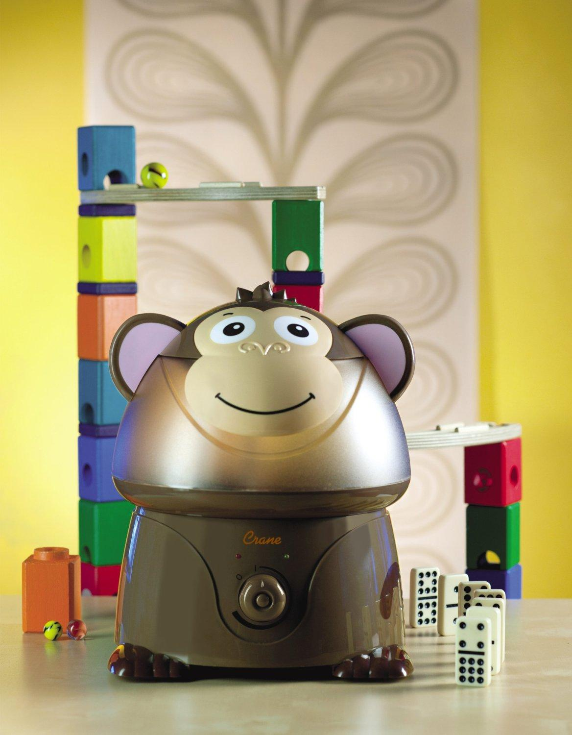 $30.49 Crane Adorable Ultrasonic Cool Mist Humidifier with 2.1 Gallon Output per Day - Monkey