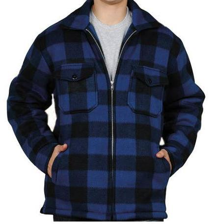Men's Buffalo Plaid Zip Jacket