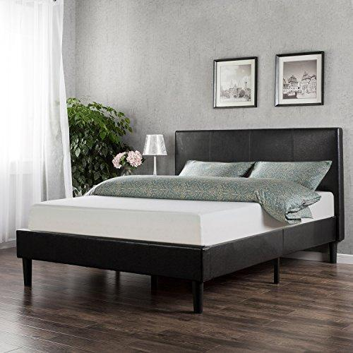 20% Off Zinus Deluxe Faux Leather Platform Bed with Wooden Slats