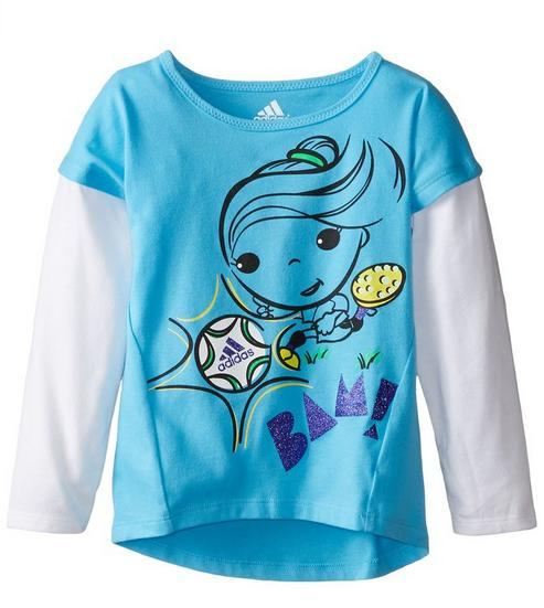 Adidas Little Girls' Fun Tastic Tee