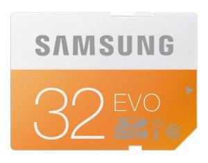 Samsung 32GB EVO Class 10 SDHC Memory Card up to 48MB/s (MB-SP32D/AM)