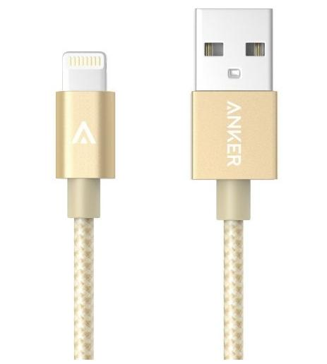 Anker 3ft Nylon Braided USB Cable with Lightning Connector [Apple MFi Certified]