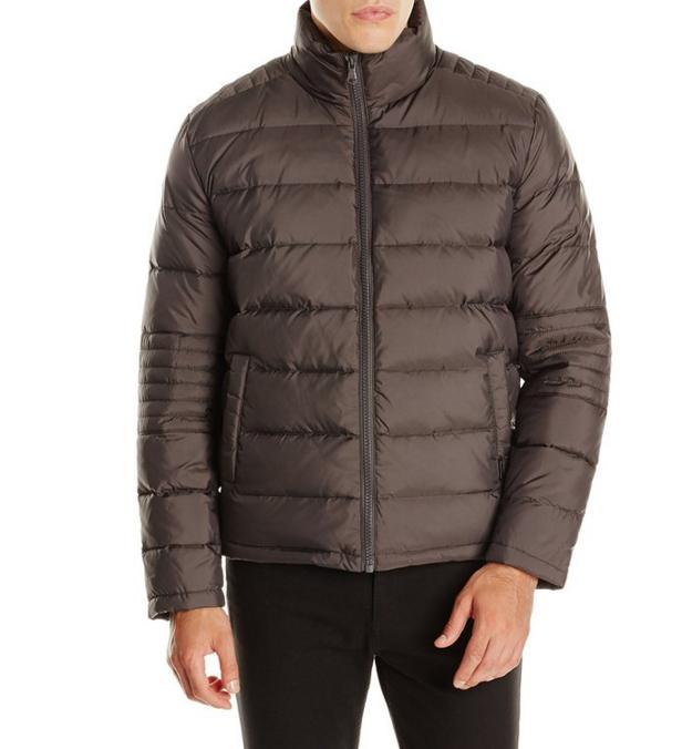 $52.5 Kenneth Cole New York Men's Puffer Down Jacket with Elbow Stitch