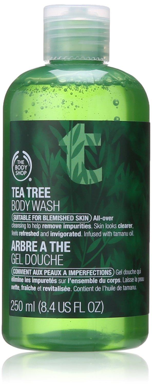 $6.55 The Body Shop Tea Tree Body Wash, 8.4-Fluid Ounce
