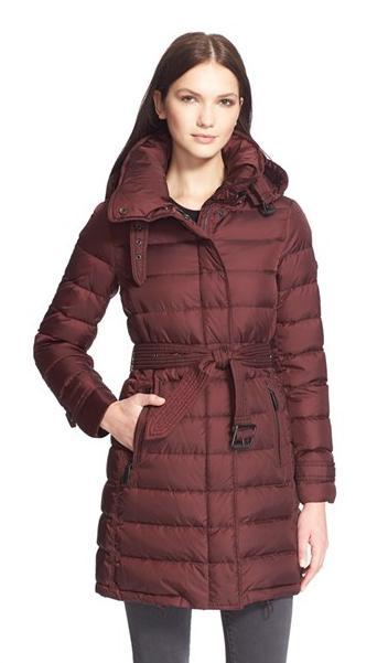 Buberry Brit 'Winterleigh' Belted Down Coat (M,XL)