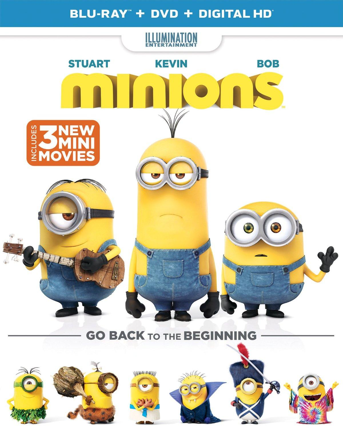 $10 Minions (Blu-ray + DVD + DIGITAL HD)