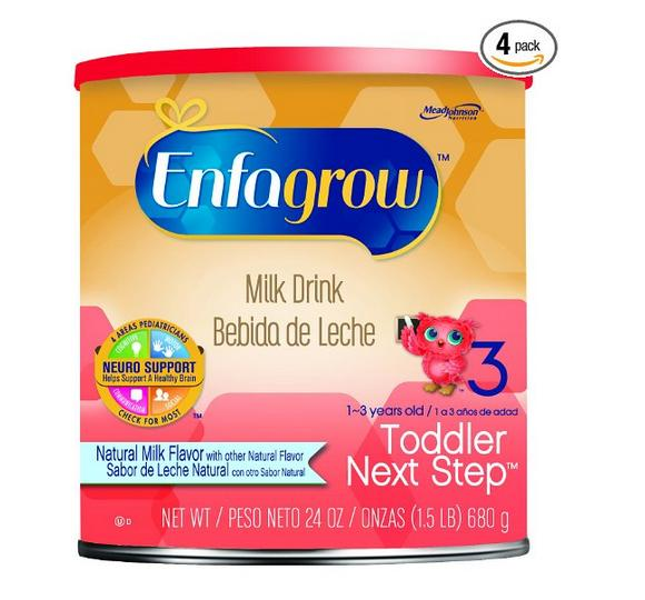$38.84 Enfagrow Next Step Natural Milk Powder Can, 24 Ounce (Pack of 4)
