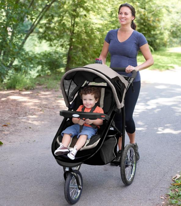 Graco Fastaction Fold Jogger Click Connect Stroller, Gotham 2015