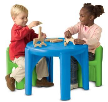 Little Tikes Bright 'n Bold Table & Chairs, Green/Blue @ Amazon