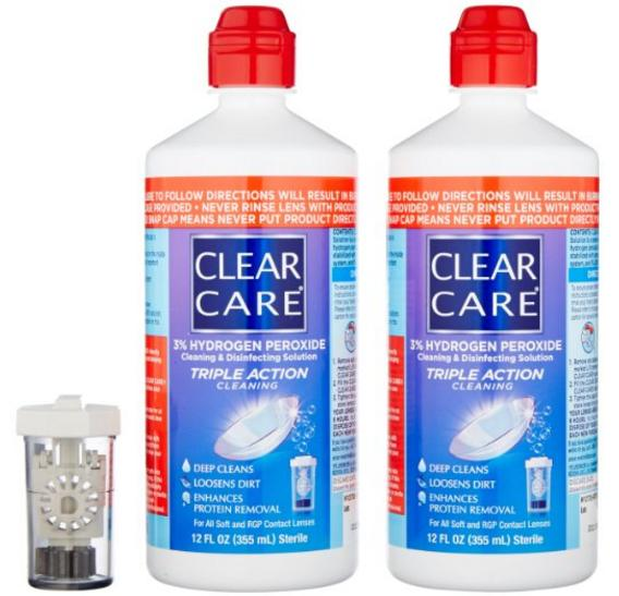 $13.62 Alcon Clear Care with Lens Case, Twin pack,12 Ounce Each