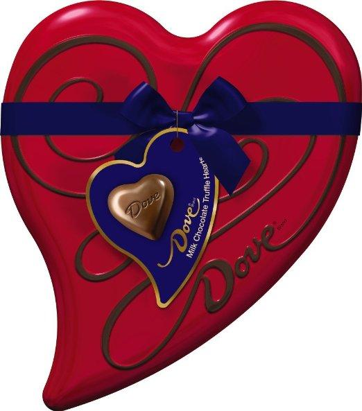 Dove Valentine's Milk Chocolate Truffle Heart Tin, 6.5 Ounce