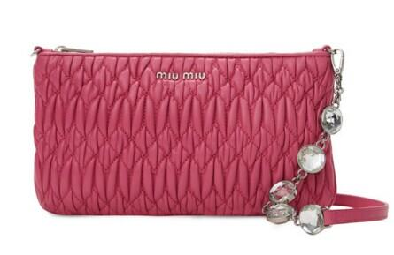 Miu Miu Matelassé Leather Convertible Crossbody @ Gilt