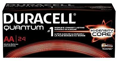 $10.99 Duracell Battery Quantum Alkaline AA or AAA, 24/Pack