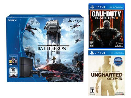 $369.99 Sony PS4 500GB Star Wars Console + Uncharted + Call of Duty Black Ops III
