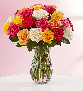 Buy 12, Get 12 FreeAssorted Roses + Free Vase @ 1-800-Flowers.com