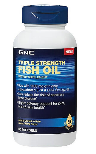 GNC Triple Strength Fish Oil 60 softgels