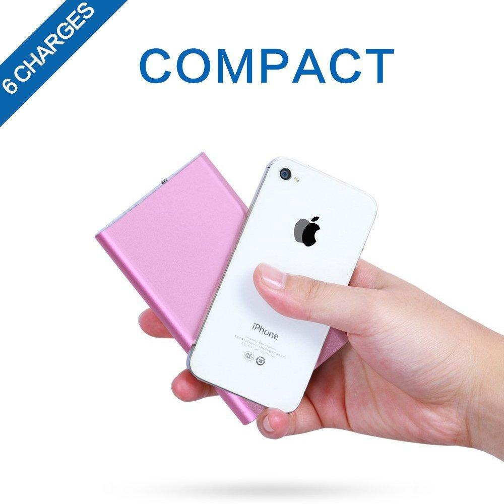 Polanfo Compact Power Bank External Battery Portable Charger High Capacity 10000mah Pack for Smartphones and Tablets