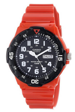 Casio Men's MRW-200HC-4BVCF Stainless Steel Red Watch