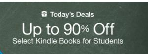 Up to 90% Off Select Kindle Books for Students