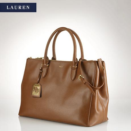 Lauren by Ralph Lauren Newbury Double-Zip Satchel