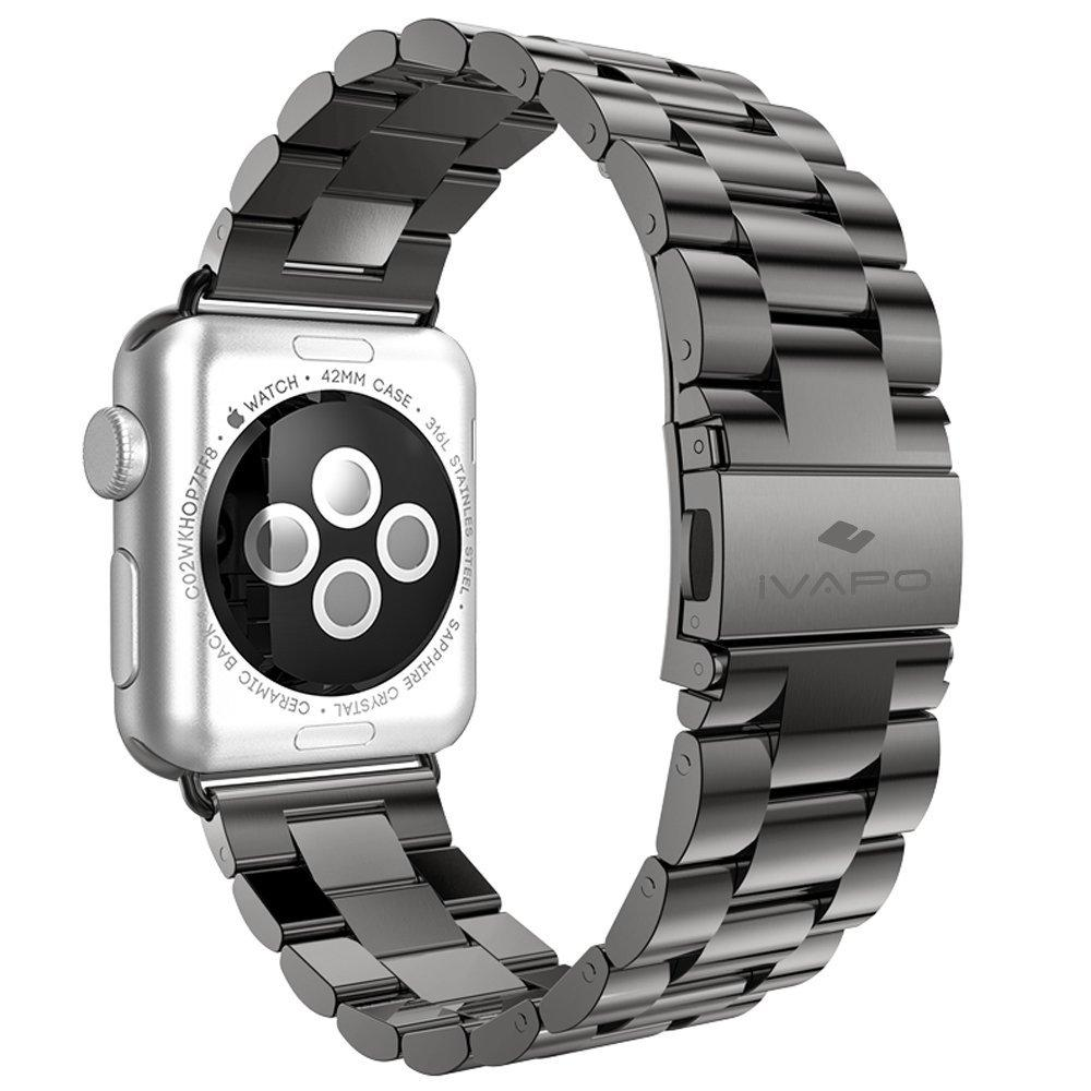 iVAPO Solid Stainless Steel Replacement Strap for Apple iWatch