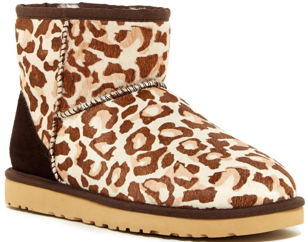 UGG Australia Classic Genuine Calf Hair Leopard Boot On Sale @ Nordstrom Rack