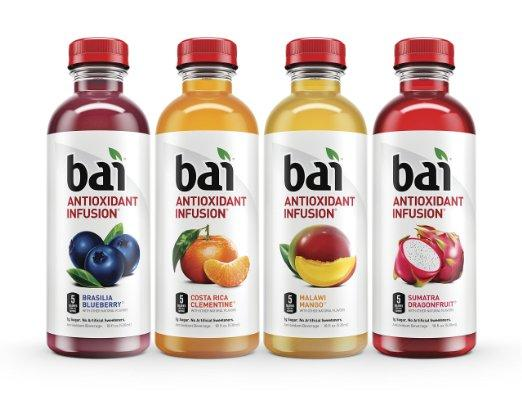 $14.35 Bai Rainforest Variety Pack, 5 Calories, No Artificial Sweeteners, 1g Sugar, Antioxidant Infused Beverage
