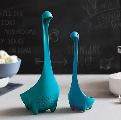 $9.99 Codream® Ototo Value Pack of 2 Turquoise Mamma Nessie Colander + Green Babies Loch Ness Monster Ladle