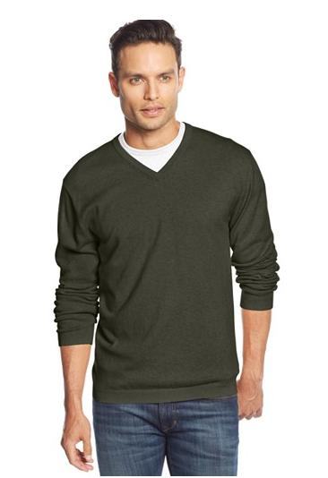 Weatherproof Vintage Solid V-Neck Cashmere-blend Sweater