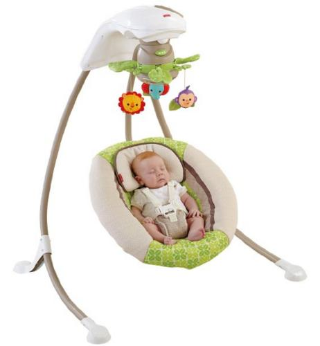 Fisher-Price Deluxe Cradle 'n Swing, Rainforest Friends @ Amazon
