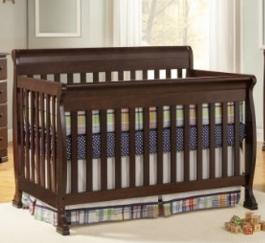 DaVinci Kalani 4-in-1 Convertible Crib with Toddler Rail, Espresso @ Amazon
