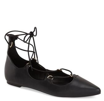 Topshop 'Fancy' Pointy Toe Ghillie Flat (Women) @ Nordstrom