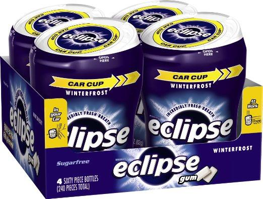 $8.44 Eclipse Sugar Free Gum, Winterfrost, 60 Piece Big E Bottles (Pack of 4)