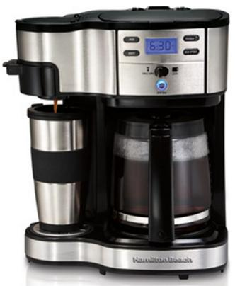$44 Hamilton Beach Two Way Brewer Single Serve and 12 cup Coffee Maker
