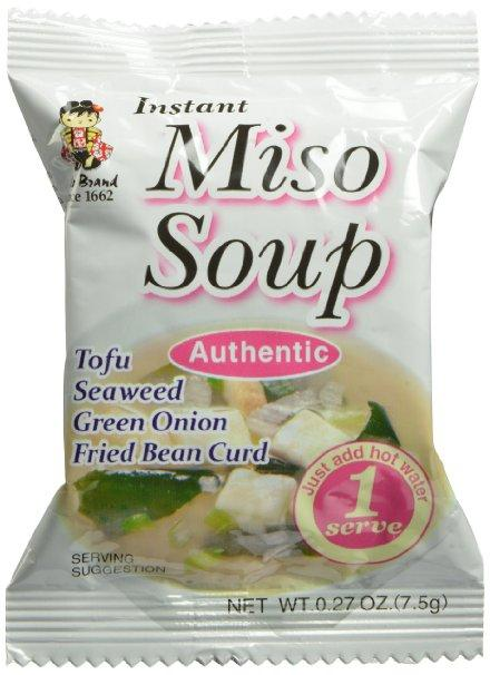 $8.35 Miyasaka Instant Authentic Soup, Miso, 0.27-Ounce (Pack of 12)
