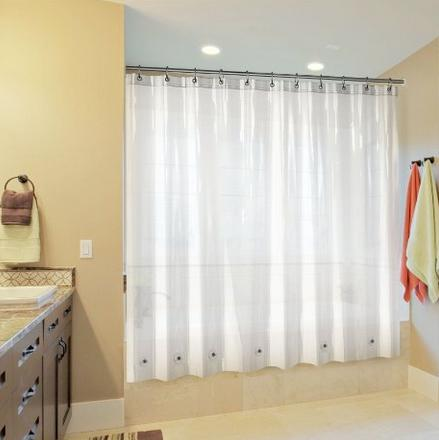 My Stunning Abode Shower Curtain Liner PEVA (Clear) w/ 6 Bottom Magnets & Reinforced Grommets
